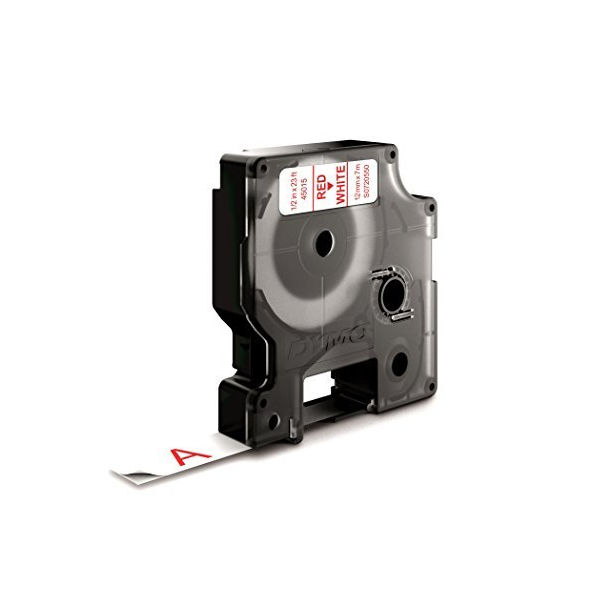 Dymo D1 Standard Label Tape Red on White - S0720550