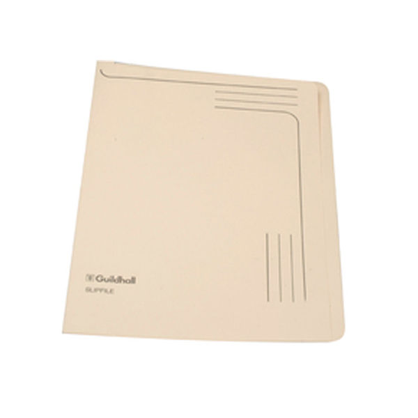 Exacompta Guildhall Slipfile Manilla 230gsm Cream (Pack of 50) 4609Z