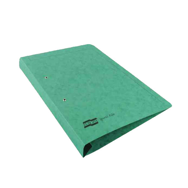 Exacompta Europa Spiral Files A4 Green (Pack of 25) 3003