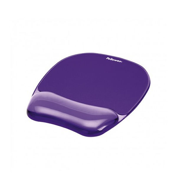Fellowes Crystal Gel Purple Mouse Mat - 91441
