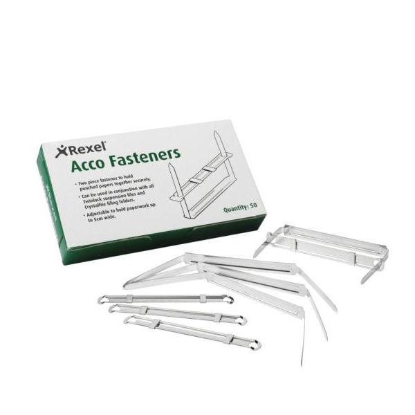 Rexel 80 x 50mm Steel Fasteners, Pack of 50 | 70850