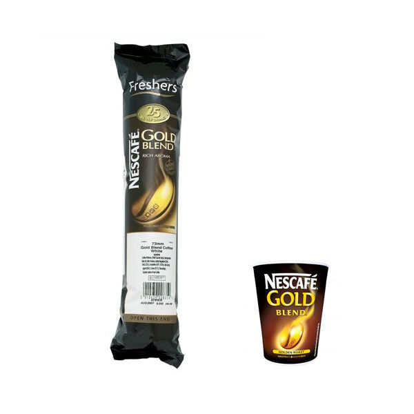Nescafe Gold Blend In Cup Vending Coffee, White - Pack 25 - A04228