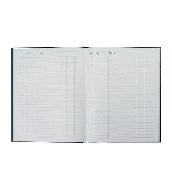 Collins Visitor Book, Leathergrain Cover, 192 Pages - 825025/1