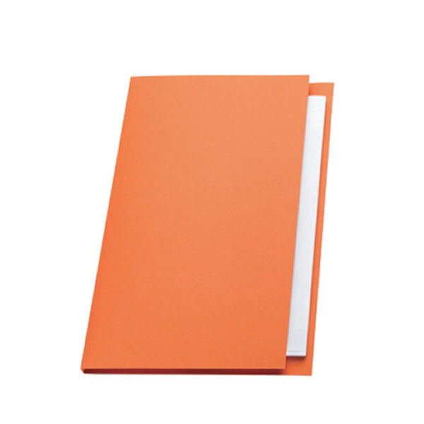 Guildhall Foolscap Square Cut Orange Folders 315gsm - Pack 100 - FS315-ORANGE