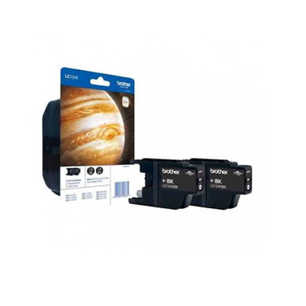 Brother LC-1240 Black Ink Cartridge, Twin Pack - LC1240BKBP2