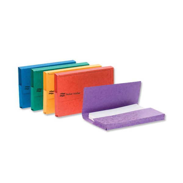 Europa Assorted Colours A3 Pocket Wallets 32mm - Pack of 25 - 4780