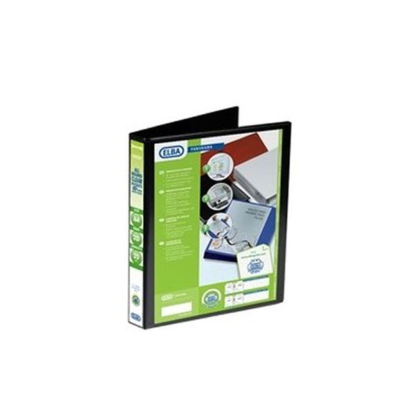 Elba Panorama Black A4 Presentation 2D Ring Binder 25mm - Pack of 6 - 400008411