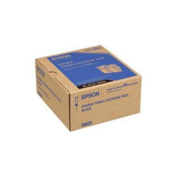 Epson S050609 Black Toner Cartridge Twin Pack (Pack of 2) C13S050609