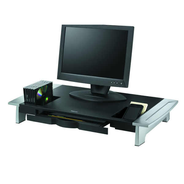 Fellowes Office Suites Premium Monitor Riser Black/Silver 8031001