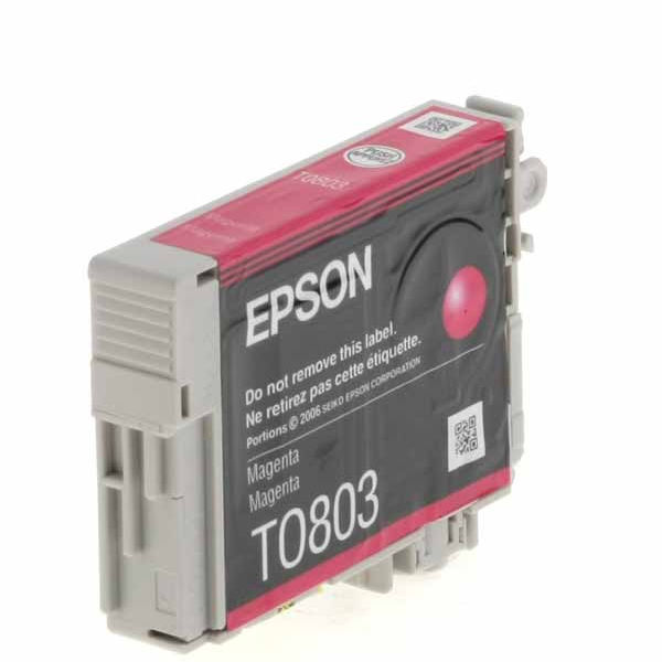 Epson T0803 Magenta Ink Cartridge - C13T08034011