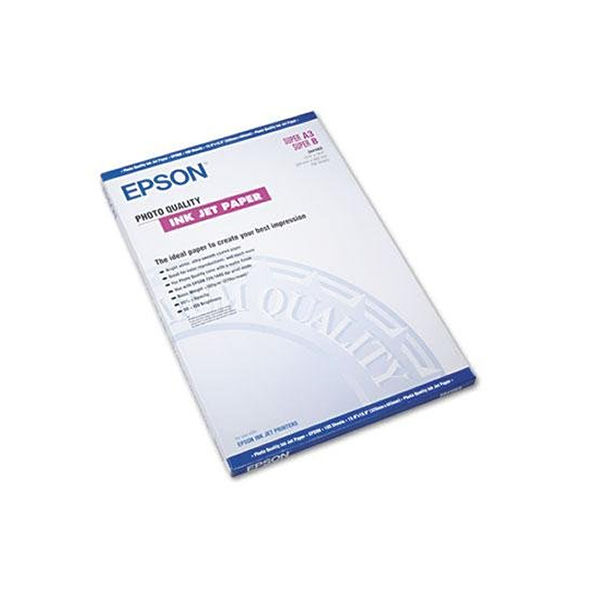 Epson Photo Quality White A3+ Inkjet Paper, 102gsm - 100 Sheets - C13S041069