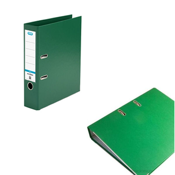 Elba PVC Green A4 Lever Arch File 70mm - 1450-04