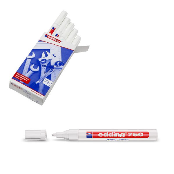 Edding 750 White Paint Markers, Pack of 10 - 750-049