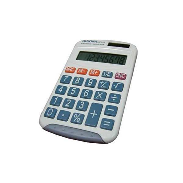 Aurora HC133 Pocket Calculator, 8 Digit Display - HC133
