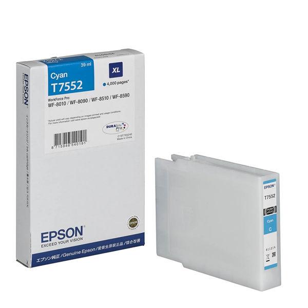 Epson T7552 XL Cyan High Yield Ink Cartridge C13T755240 / T7552
