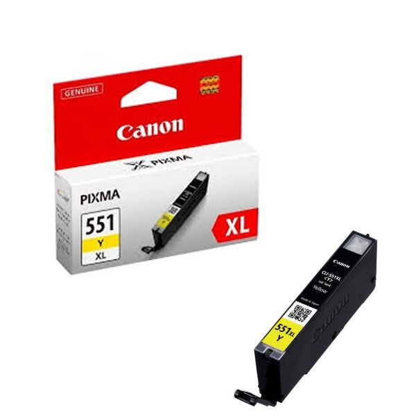Canon CLI-551Y XL High Capacity Yellow Ink Cartridge - CLI-551XL Y