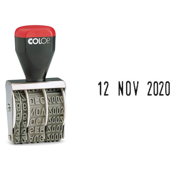 COLOP Date Stamp 5mm (3 letter month abbreviations and 12 consecutive year bands) 05000