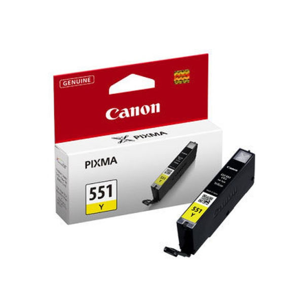 Canon CLI-551Y Yellow Ink Cartridge - 6511B001