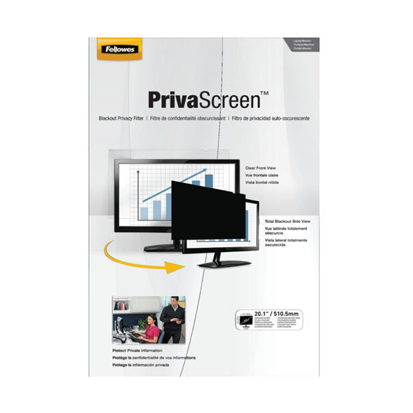 Fellowes PrivaScreen Privacy Filter 20.1in 4801201