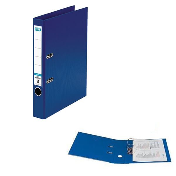 Elba PVC Blue A4 Lever Arch File 50mm - 145101