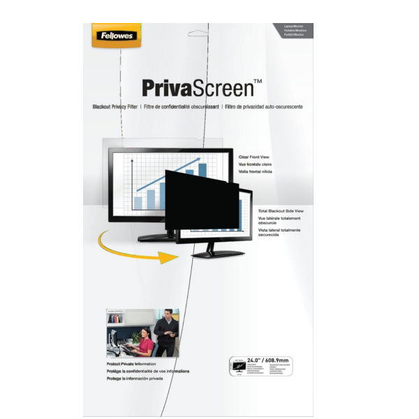 Fellowes PrivaScreen Privacy Filter Widescreen 24in 4811801