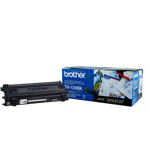 Brother TN135BK Black Toner Cartridge High Capacity TN-135BK