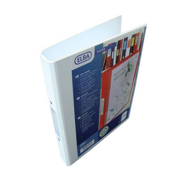 Elba Vision A4 White 25mm 2 O-Ring Binder - 100080889