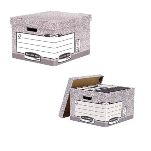 Fellowes R-Kive Large Bankers Box Storage Archive System, Pack of 10 - 01810