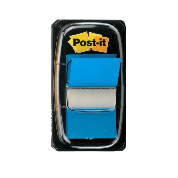 Blue Standard Post-it  Index Tabs, Pack of 50 - 680-2