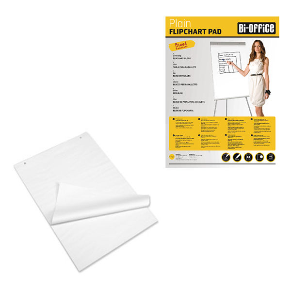 Bi-Office A1 Perforated Flipchart Pads, Pack of 5 - FL010101