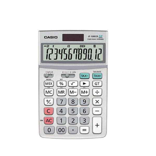 Casio JF-120ECO Desktop Calculator, 12 Digit Display - CS18569