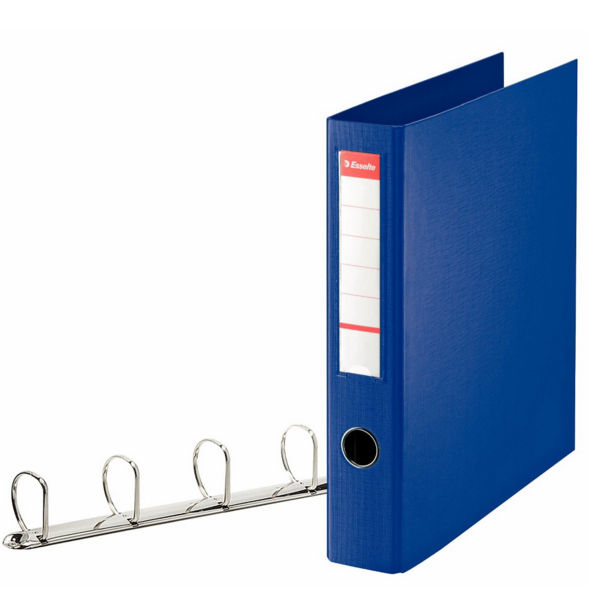 Esselte Blue A4 Maxi 4 D-Ring Binder 40mm - 82405