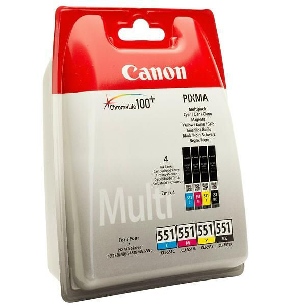 Canon CLI-551 Black and Colour Ink Multipack - CLI-551