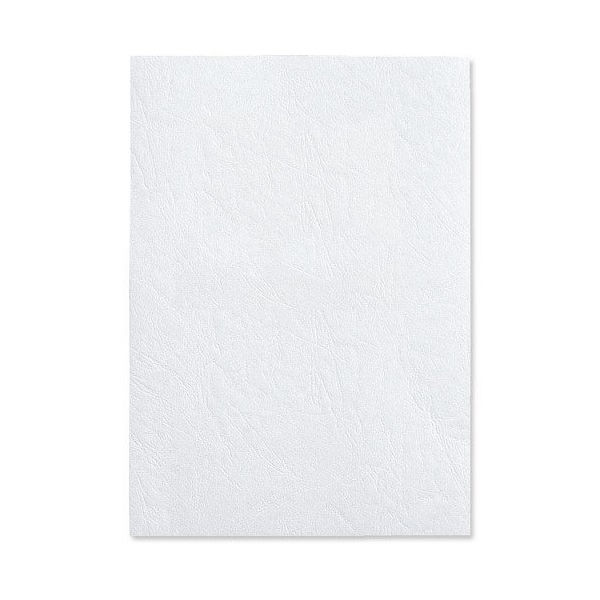 GBC LeatherGrain A4 White Binding Covers, Pack of 100 - CE040070