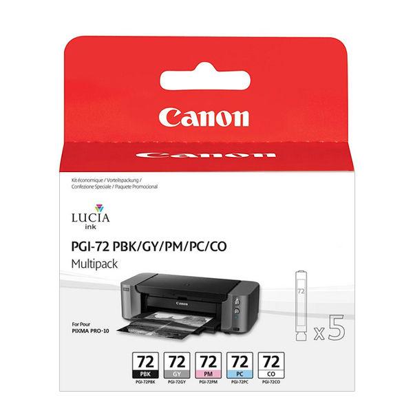 Canon PGI-72 Photo Ink Cartridge Multipack, Pack of 5 - 6403B007