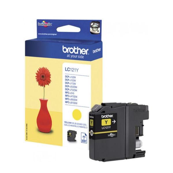 Brother LC121Y Yellow Inkjet Cartridge