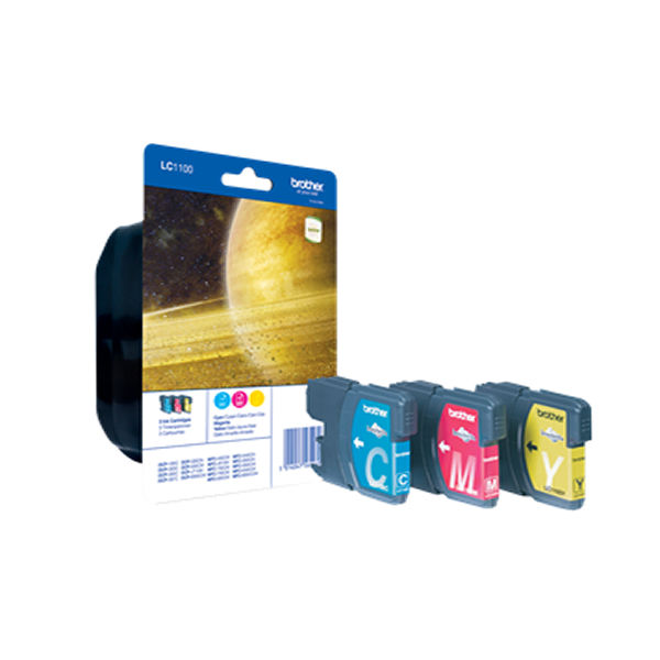 Brother LC1100 Colour Ink Cartridge Multipack - LC1100RBWBP