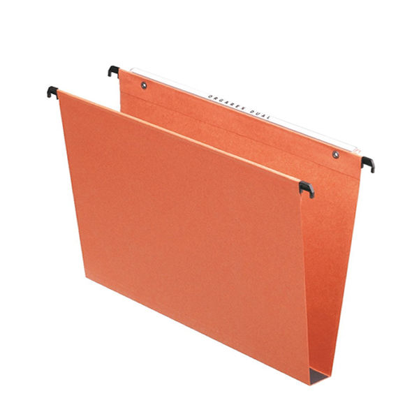 Esselte Orgarex Foolscap 30mm Orange Suspension Files, Pack of 50 - 10403