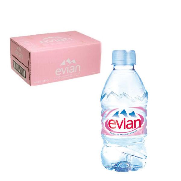 Evian Bottled Natural Mineral Water 330ml Bottles - Pack of 24 - DW06301