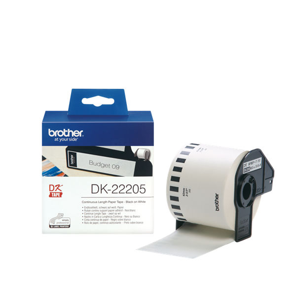 Brother Large White Paper Tape - DK-22205