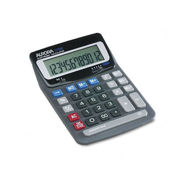 Aurora DT85V Desktop Calculator, 12 Digit Display - DT661