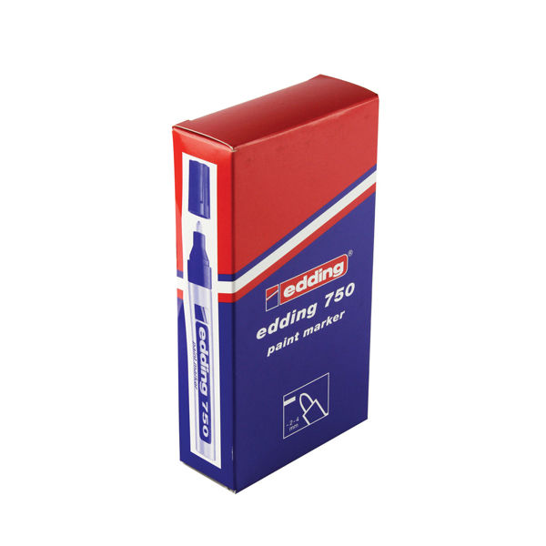 Edding 750 Red Paint Markers, Pack of 10 - 750-002