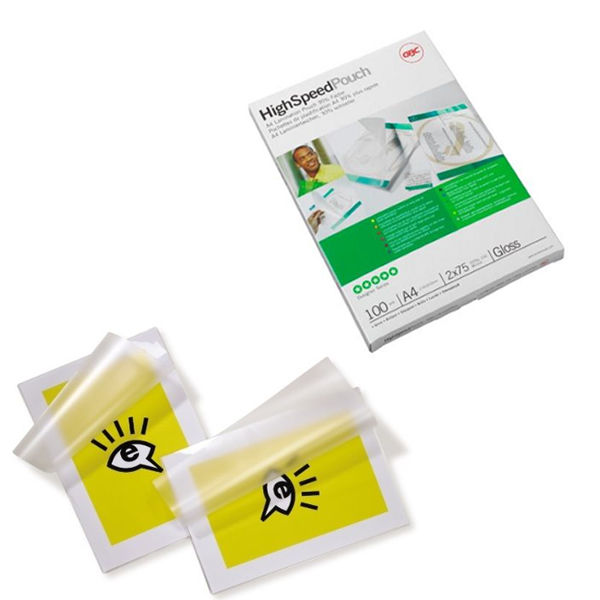 GBC A4 High Speed Gloss Laminating Pouches, Pack of 100 - 3747347