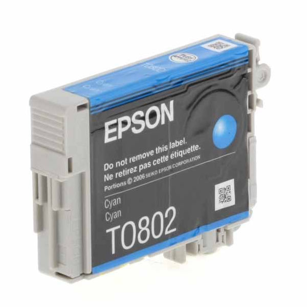 Epson T0802 Cyan Ink Cartridge - C13T08024011
