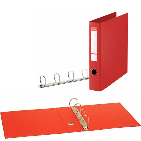 Esselte Red A4 Maxi 4 D-Ring Binder 40mm - 82403