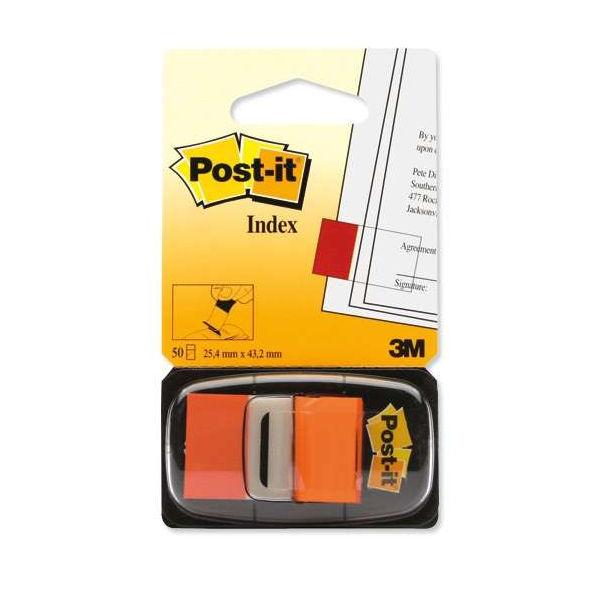 Post-it Orange Index Tabs, Pack of 600 - 3M06264