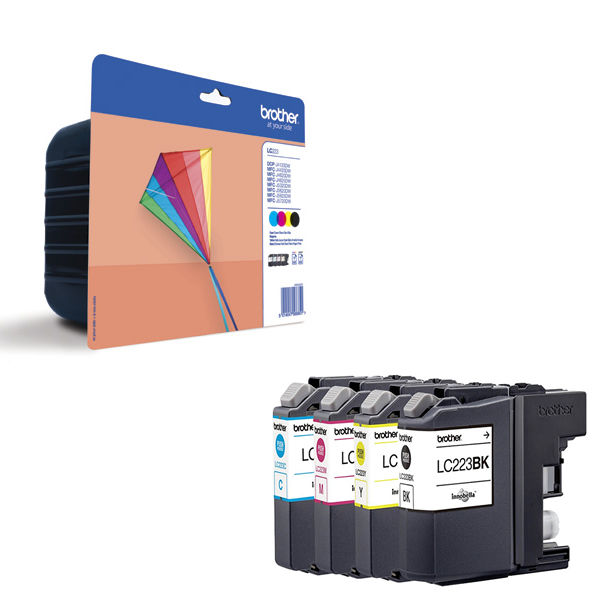 Brother LC-223 Inkjet Cartridge Multipack - LC223VALBP