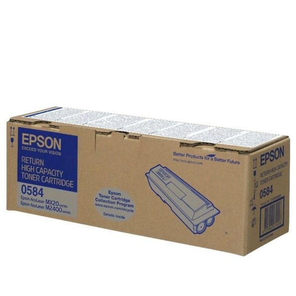 Epson S050585 Black Toner Cartridge - High Capacity C13S050584