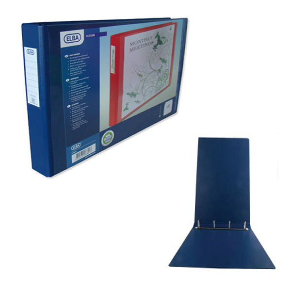 Elba Vision Blue A3 Oblong 4 D-Ring Binder 30mm - 1268-01