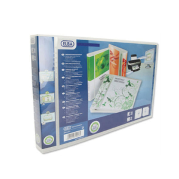Elba Panorama White A3 Presentation 4 D-Ring Binder 30mm - Pack of 2 - 400008435